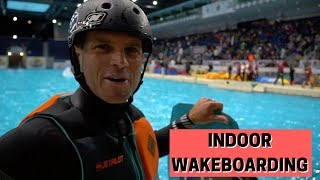 Indoor Wakeboarding Flooded Hockey Rink