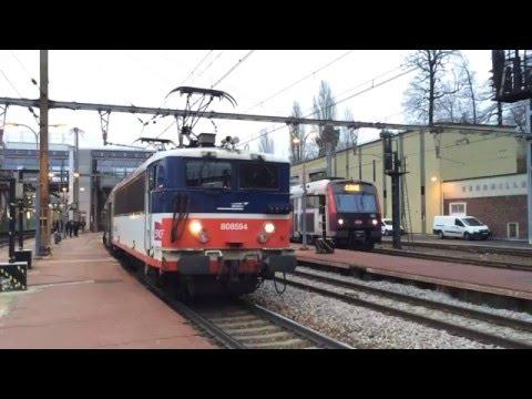TER Centre en gare de Versailles Chantiers: BB 7200, BB 8500, Regio2N
