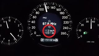 How on Mercedes W219 in the Status Bar Change the Index of Temperature to Speed and Back