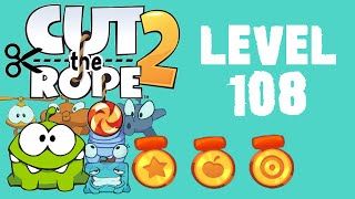 Cut the Rope 2 - Level 108 (3 stars, 33 fruits, 3 stars + beat the timer)
