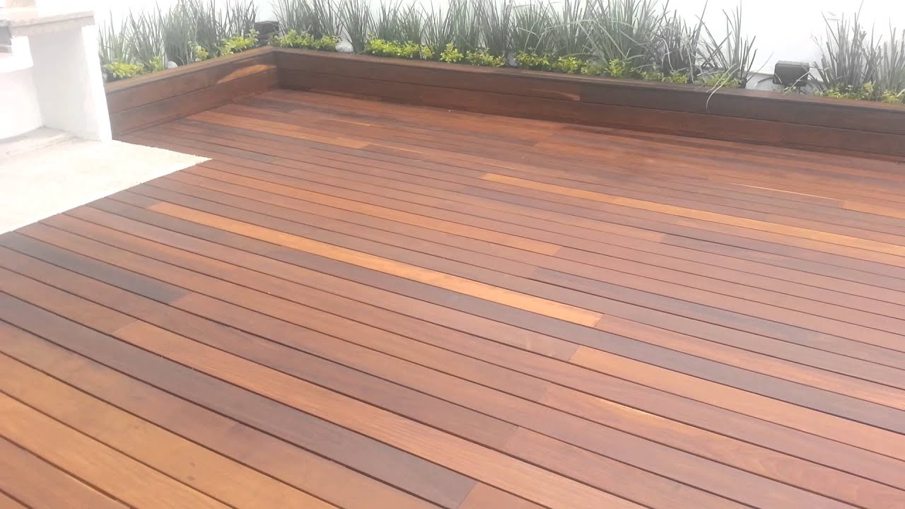 Piso deck de madera ipe instalacion monterrey youtube for Deck madera