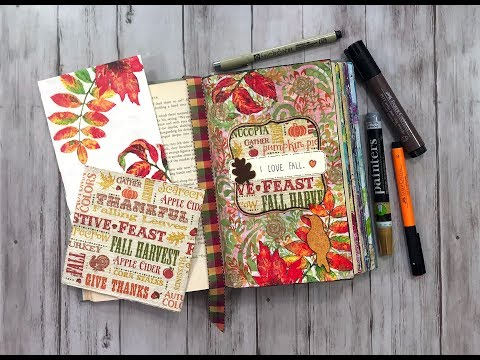 Altered Book Page - I Love Fall