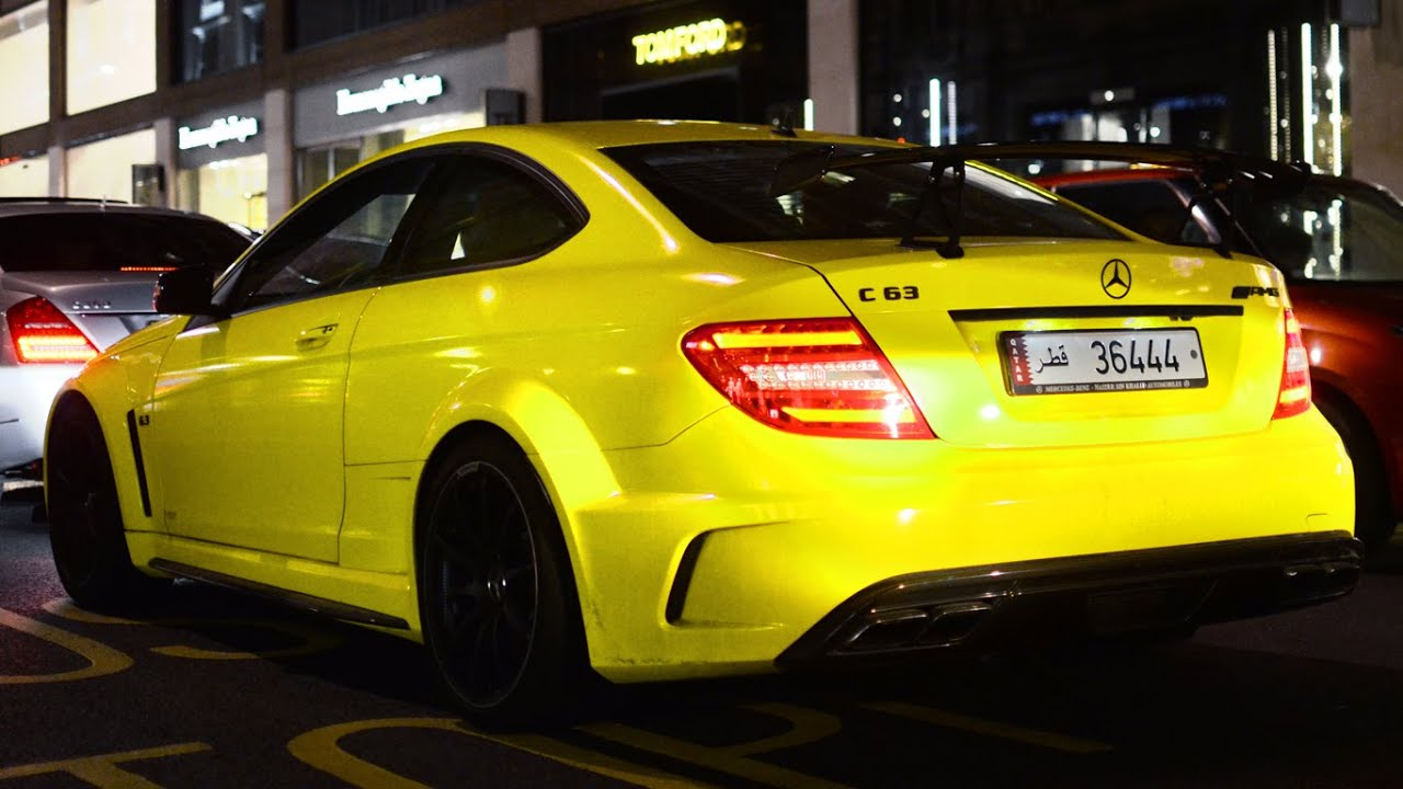 C63 Amg Coupe 2018 >> Yellow Mercedes C63 AMG Black-Series in London - YouTube