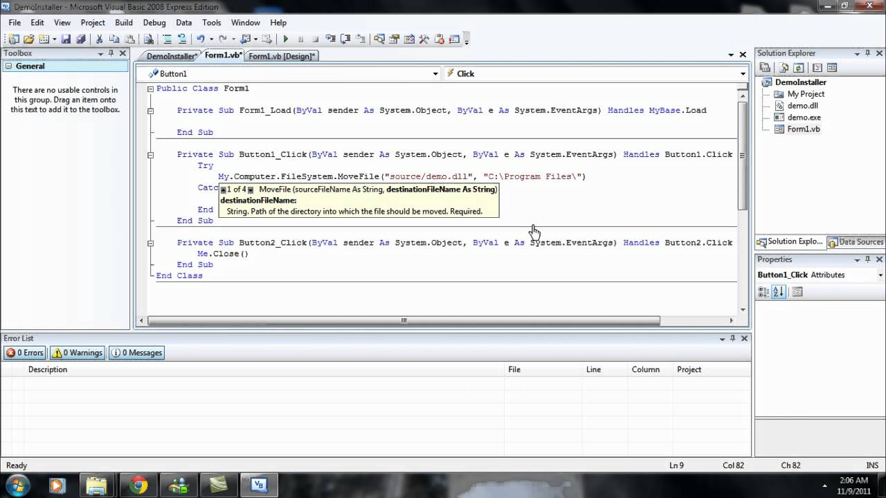 comment installer Visual Basic 2010