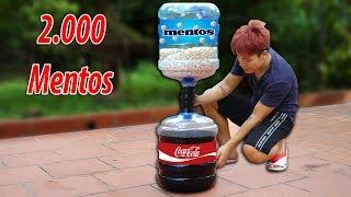 NTN - Experiment: Coca Cola Vs Mentos (Thả 2000 Viên Mentos Vào Chai Coca Khổng Lồ)