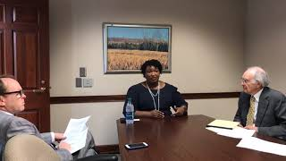 Stacey Abrams interviews with Augusta Chronicle editorial board