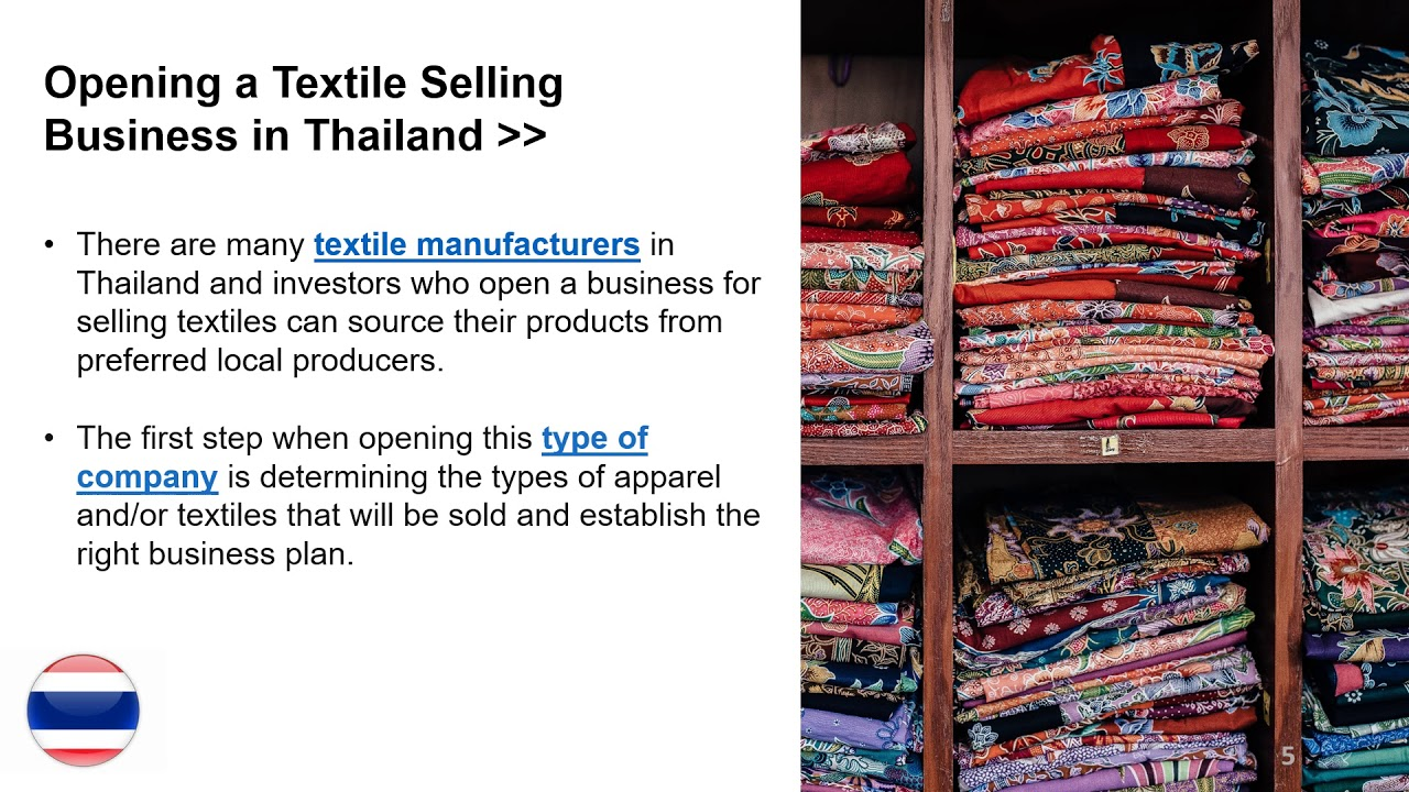 Start a Business for Selling Textiles in Thailand