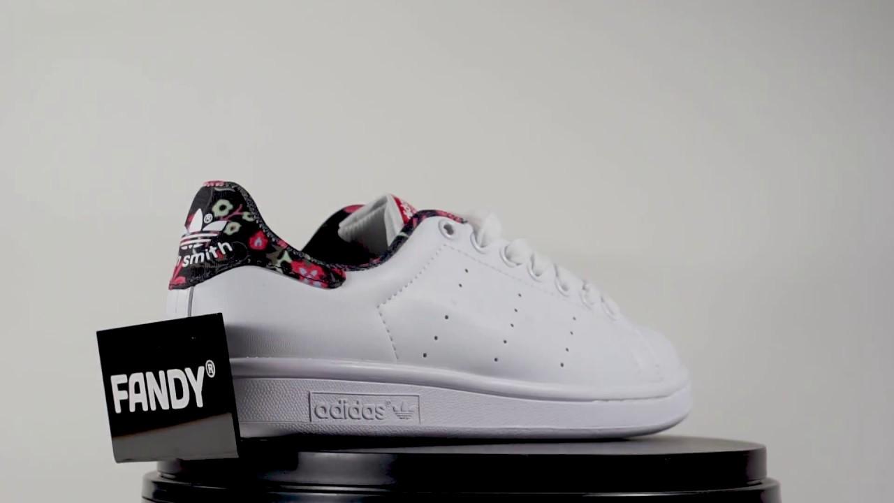 premium selection b7a2d ece41 Stan Smith Floral Pink Black