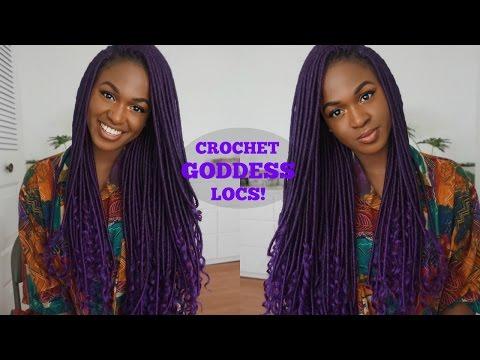 CROCHET PURPLE GODDESS LOCS | Quick Tutorial
