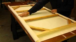 How to Make A Gallery Wrap Canvas