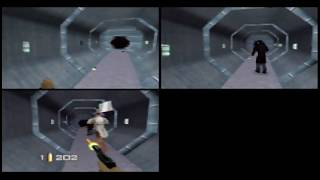 GoldenEye 007 Multiplayer Fun: 3 player Part 3(The Living Daylights[Flag Tag])