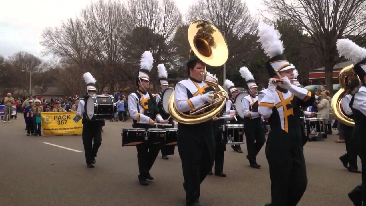 FACS band at Germantown TN Christmas parade - YouTube