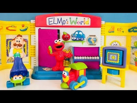 ELMO'S WORLD Sesame Street Rare Toy Playset Opening!