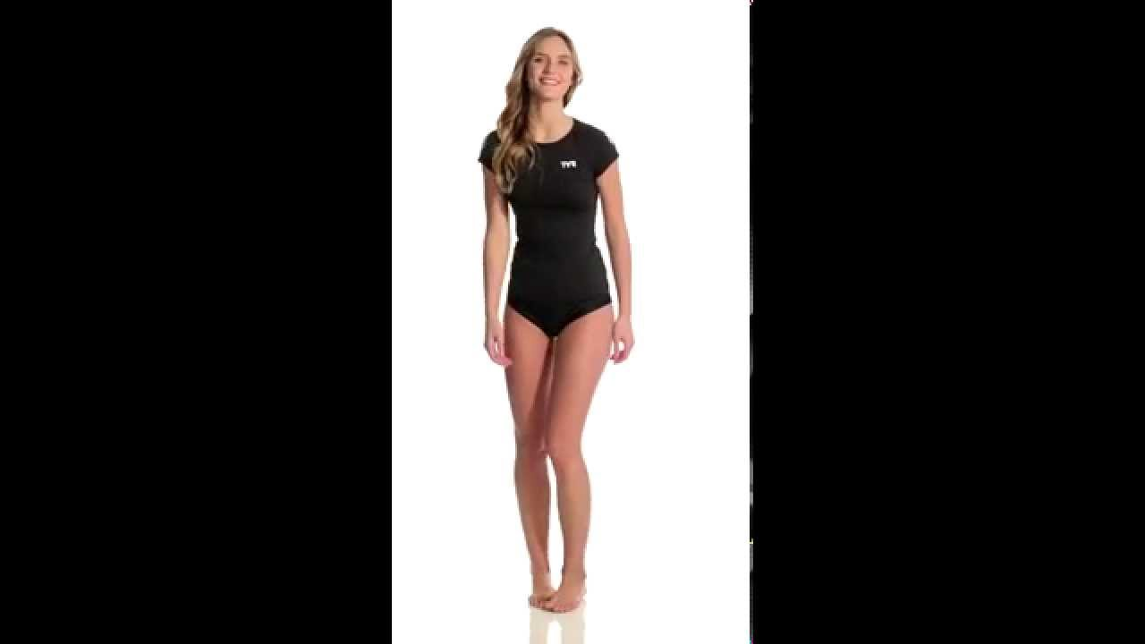 99b4f820720237 TYR USA Swimming Women s Short Sleeve Swim Shirt
