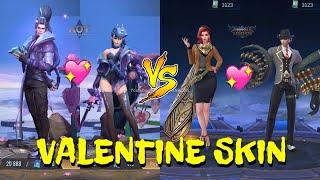 ML VS AOV - VALENTINE SKIN BATTLE 2020 - Arena of Valor VS Mobile Legends Bang Bang