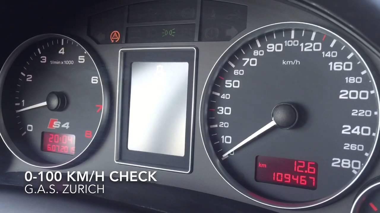 Audi s4 avant 4 2 v8 quattro 344 ps 0 100 0 60 km h acceleration youtube