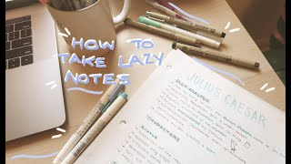 how to take pretty notes for lazy people