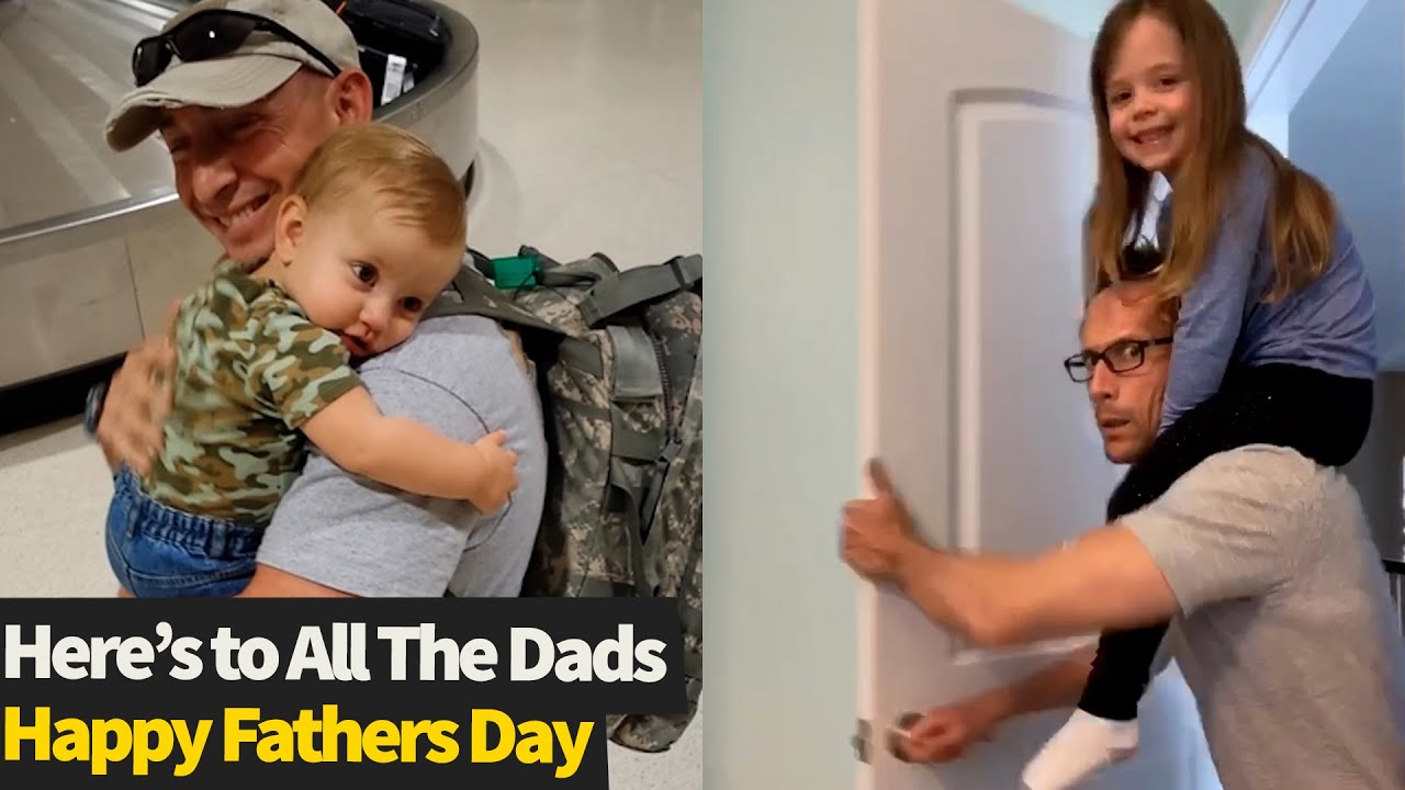 Here's To All The Dads! The Best Dad Moments To Celebrate Fathers Day.