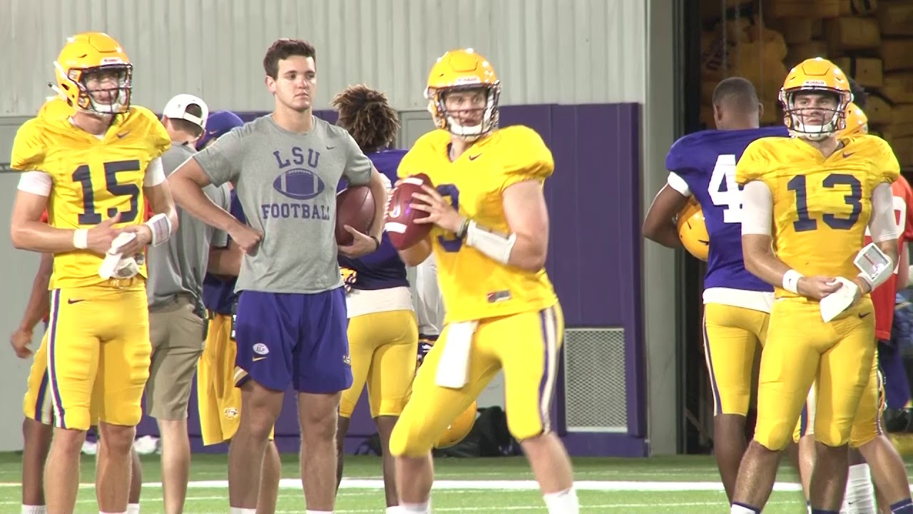 Lsu Football Practice Highlights 5 Days Until Miami Youtube