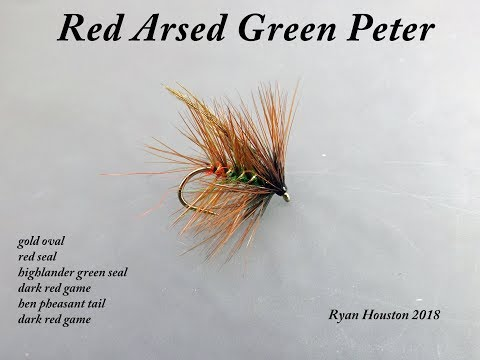TYING THE RED ARSED GREEN PETER WITH RYAN HOUSTON 2018