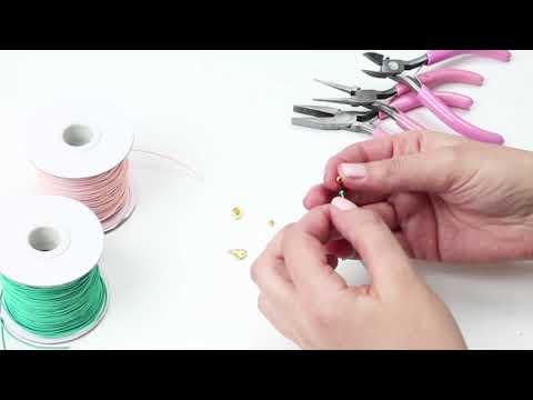 Elaboración de joyería: Pulseras con hilo elástico y alambre artístico ♡ DIY