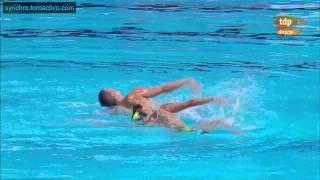 Giorgio Minisini/M. Perrupato (ITA) Free Mixed Duet Preliminary Kazan World Championships 2015
