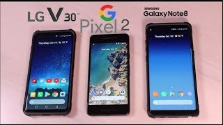 Google Pixel 2 Display Issues and Problems VS Galaxy Note 8 and LG V30