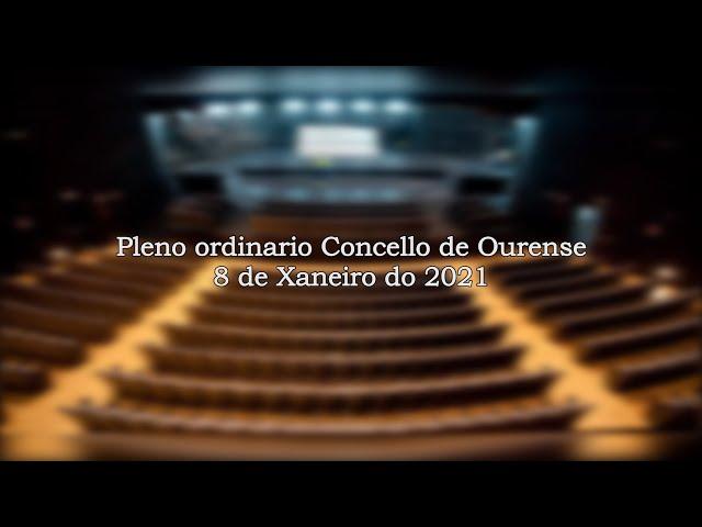 Pleno ordinario Concello de Ourense 8/1/2021 Primera Parte
