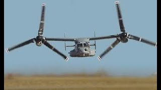 Worlds SAFEST AIRCRAFT TO FLY US Military V-22 Tilt rotor Military transport aircraft