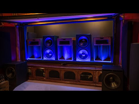 """Easy Access Behind A 150"""" Acoustic Transparent Screen For My Home Theater"""