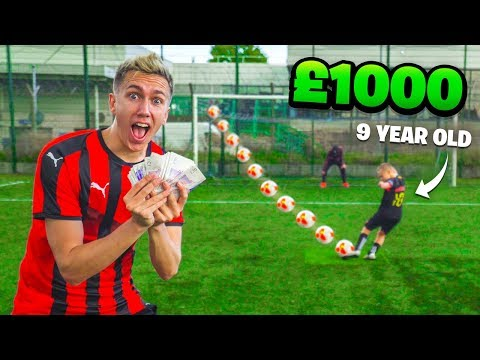 1000 FOOTBALL CHALLENGES VS 9 YEAR OLD MESSI