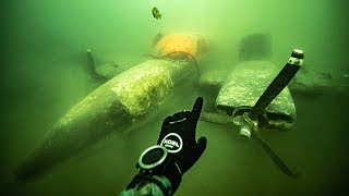 I FOUND An AIRPLANE CRASHED Underwater!! (Explored Inside)