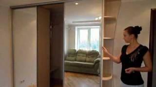 Шкаф-купе-гардеробная.(http://mebel-albert.kiev.ua - мебель на заказ в Киеве. Встроенный шкаф-купе совмещенный с гардеробной в нише неправильно..., 2010-08-13T19:22:33.000Z)