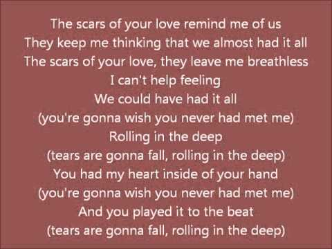 Rolling in the deep Lyrics - Adele - 21 - YouTube Rolling In The Deep Lyrics