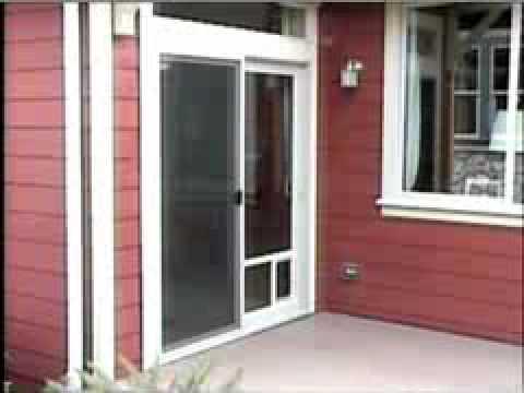 Pet Door Design Patio Pet Door Youtube