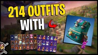 Puncture Pack Back Bling on 214 Outfits | Mayhem - Fortnite Cosmetics
