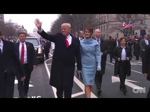 Реакция Трампа на российский флаг  Russian Flag Flies Proudly at Trump inaugural parade HD