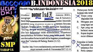 prediksi un Bahasa Indonesia smp 2018 , 'bocoran' ucun, ujicoba UN dki  no 1 2 3 , deforestasi
