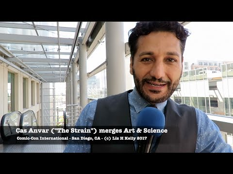 ComicCon 2017 Cas Anvar The Strain merges Art and Science