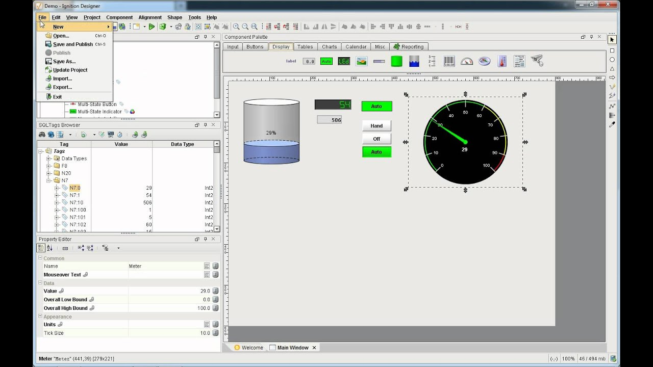 How to create an hmi screen using ignition web based java for Web based home design