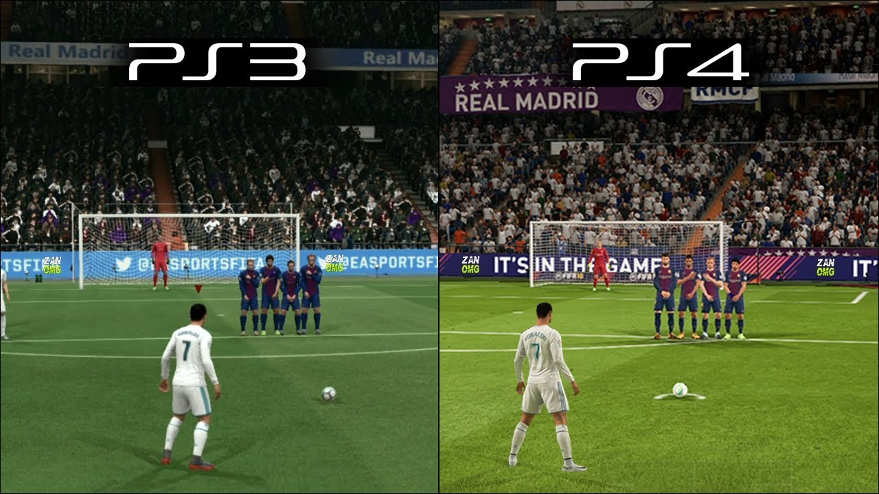 fifa 18 ps3 vs ps4 graphics amp gameplay comparison doovi