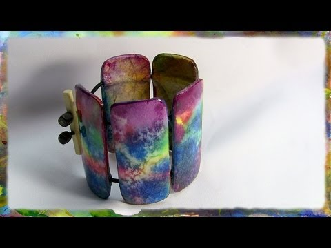 How to Make a Watercolor Paper Bracelet, Jewelry Design Part 2