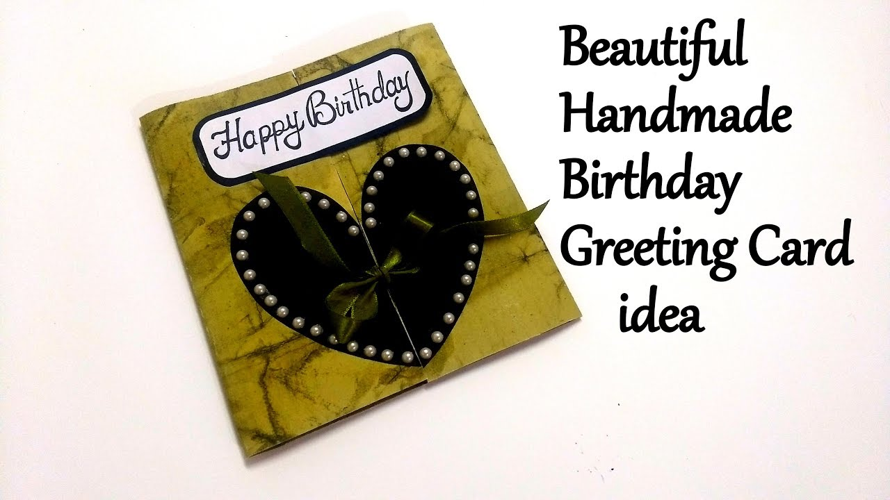 Beautiful Handmade Birthday Greeting Card Idea For Boyfriend