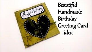 Beautiful Handmade Birthday Greeting Card Idea for Boyfriend   tutorial