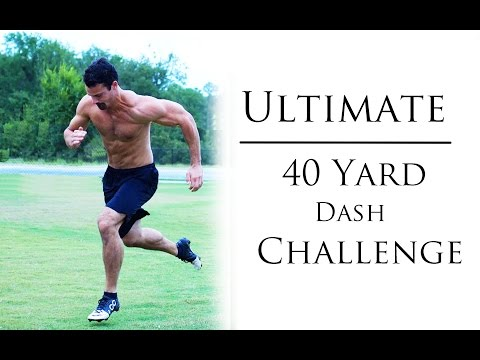 Barry Sanders 40 40 Yard Dash Challenge!