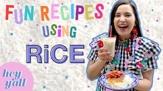 Spice it Up with These Fun Recipes | DELICIOUS Horchata & Crispy Rice Recipe | Hey Y'all