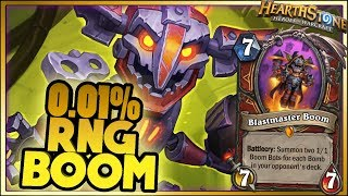 0.01% RNG BOOM! | Hearthstone Rise of Shadows moments