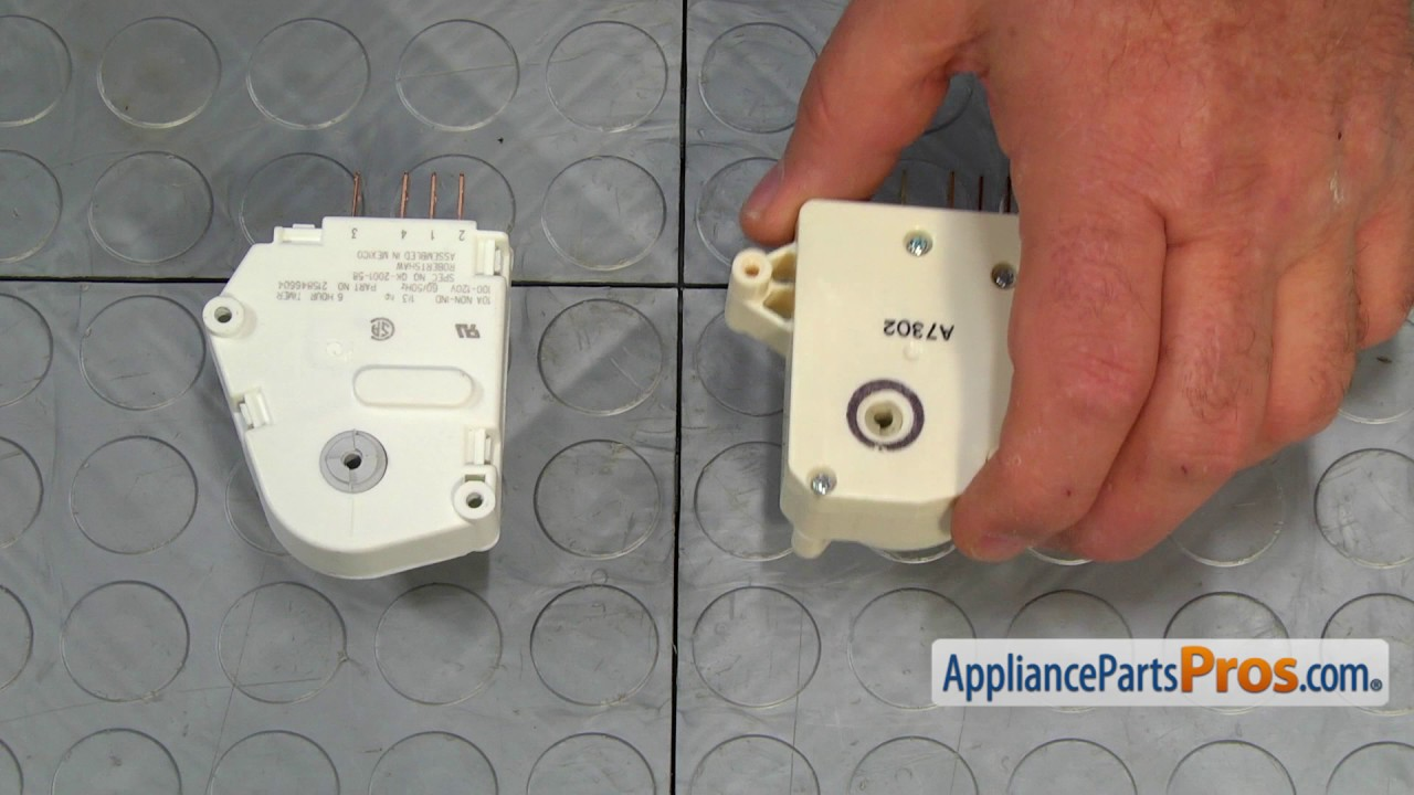 hight resolution of refrigerator defrost timer part 215846604 how to replace