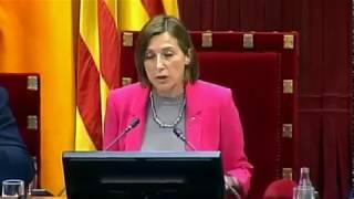 CIRCO INDEPENDENTISTA en el Parlament: Forcadell salta como loca a quitar la palabra a Ciudadanos
