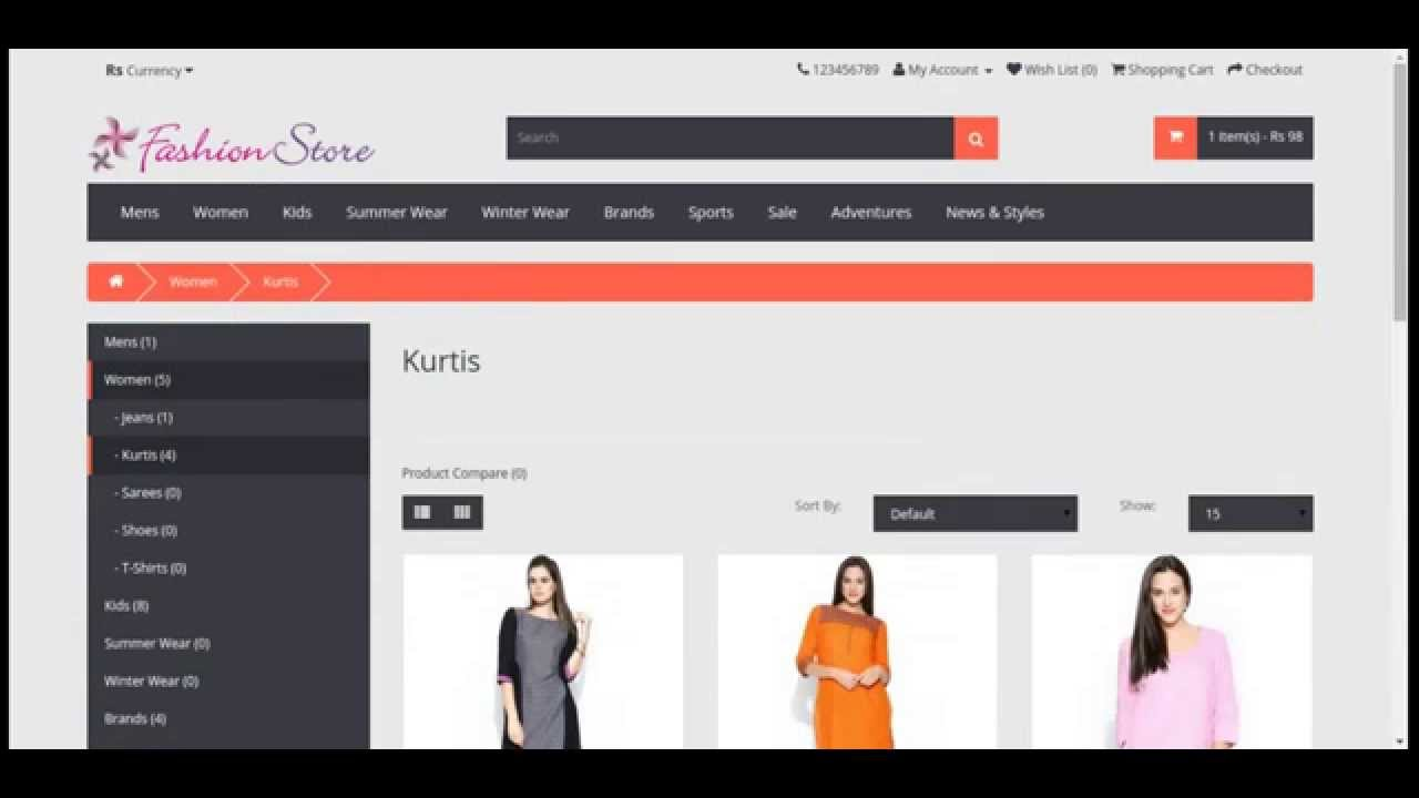 Online Shopping Project In Php With Source Code Free Download